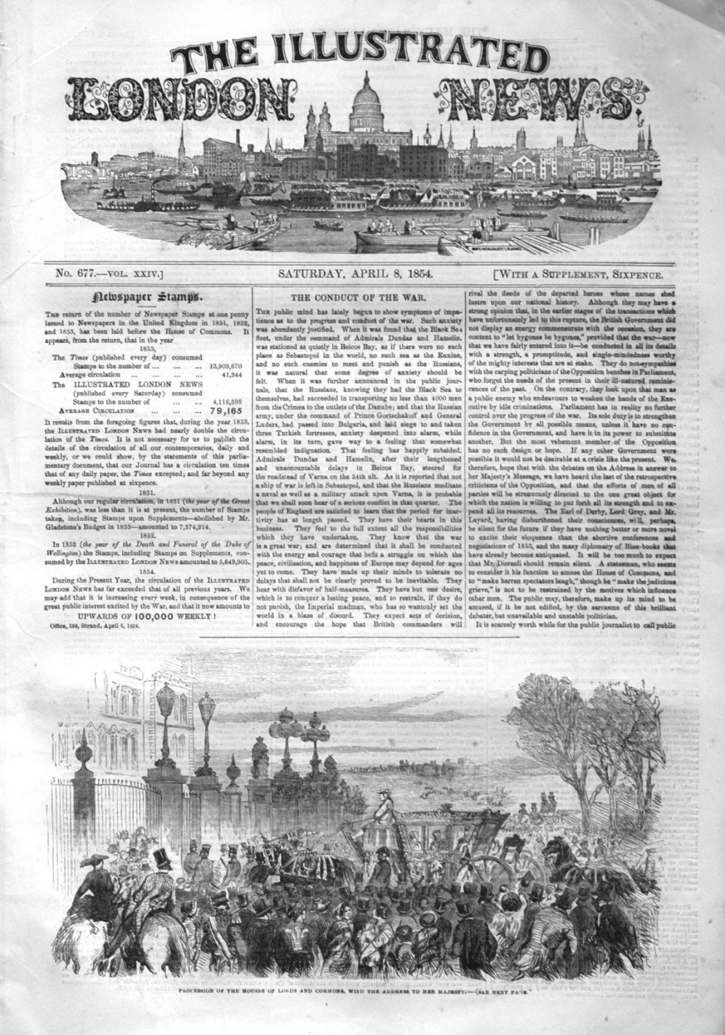 Illustrated London News. April 8th 1854.