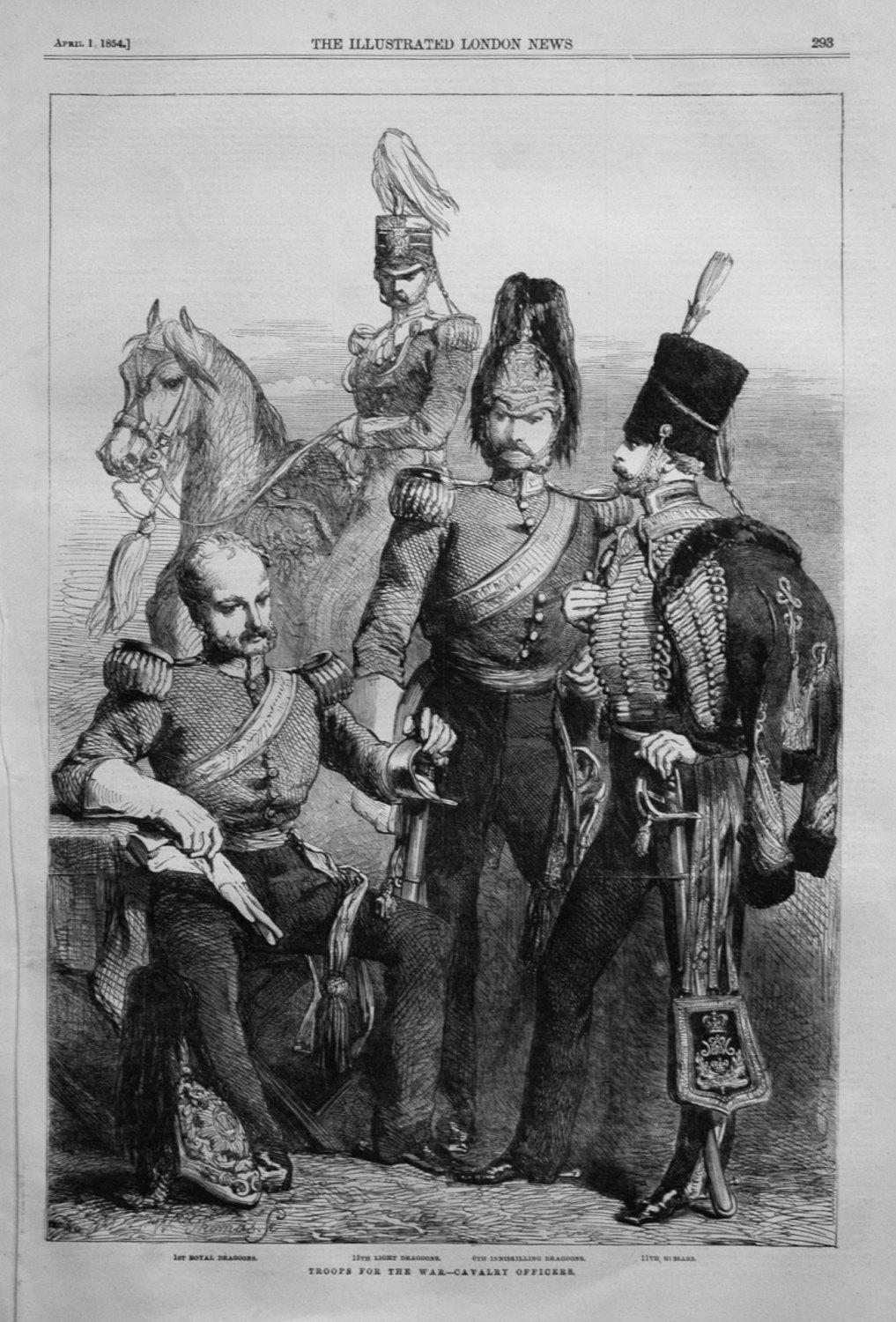 Troops for the War.- Cavalry Officers. 1854.