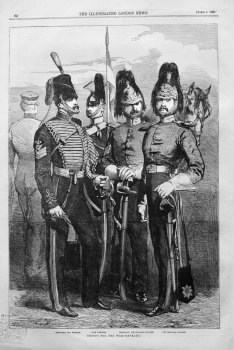 Troops for the War.- Cavalry. 1854.