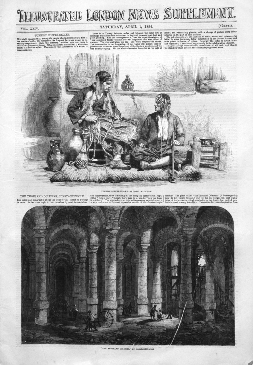 Illustrated London News (Supplement) for April 1st 1854.