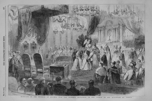 Marriage of the Emperor of Austria with the Princess Elizabeth, in the Chur