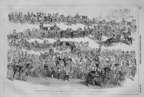 Grand Procession of the Empress of Austria (Elect) into Vienna.
