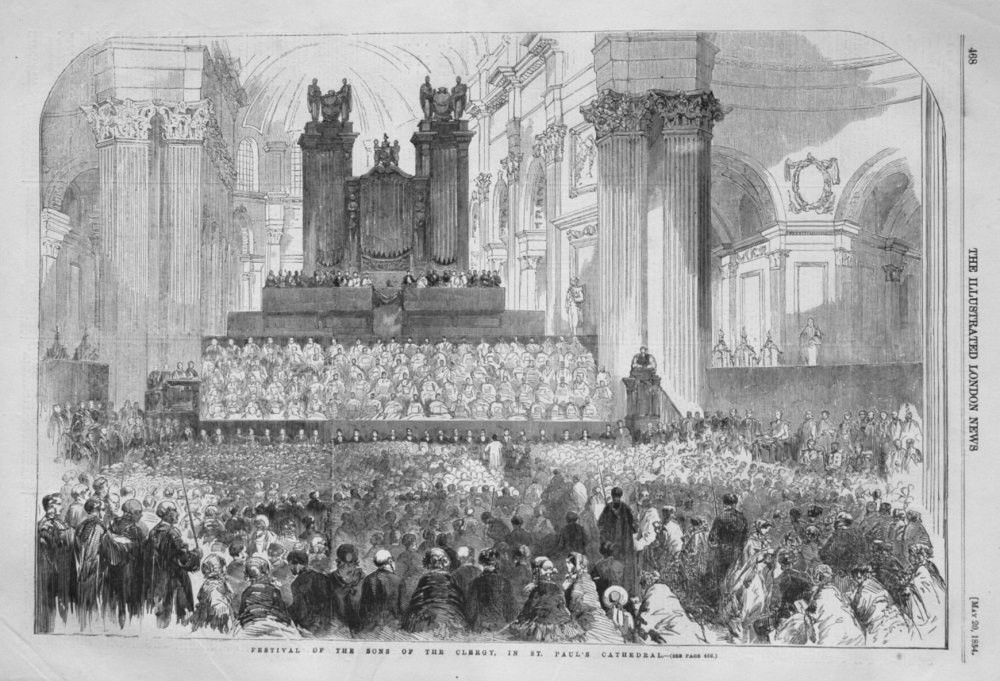 Festival of the Sons of the Clergy, in St. Paul's Cathedral.