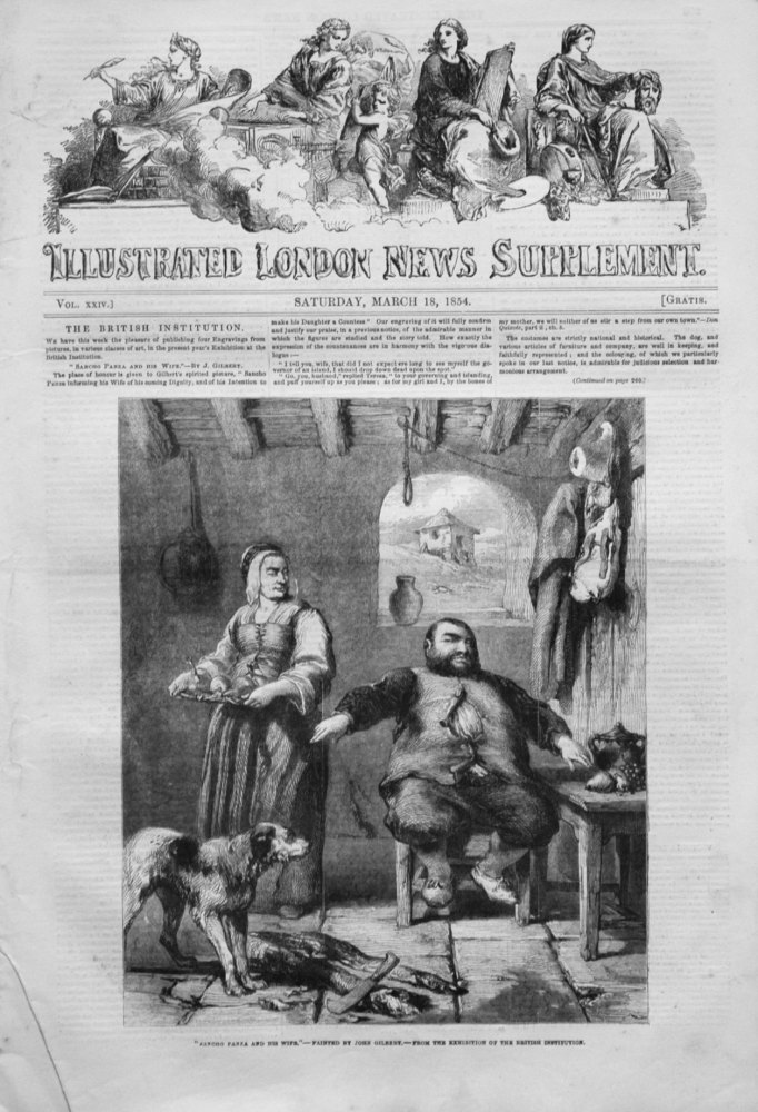 Illustrated London News (Supplement) for March 18th, 1854.