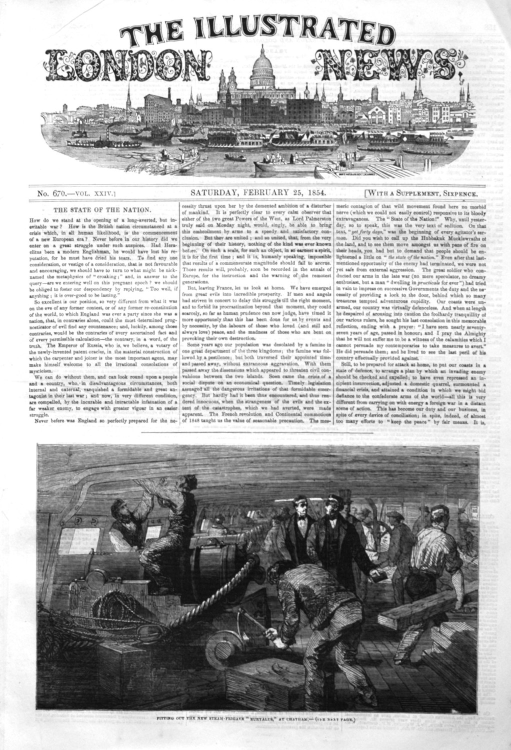 Illustrated London News, February 25th 1854.