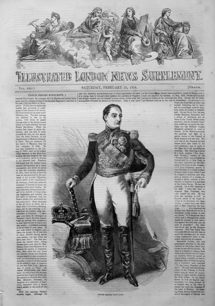Illustrated London News (Supplement) for February 25th 1854.