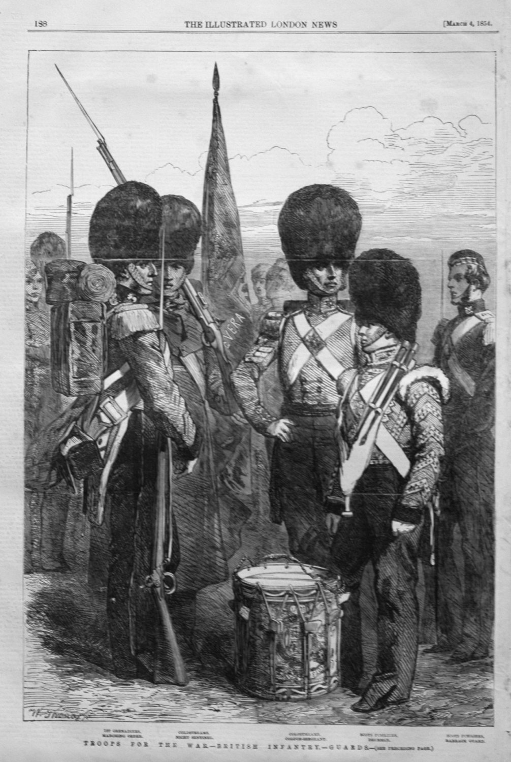 Troops for the War .-British Infantry. - Guards. 1854.