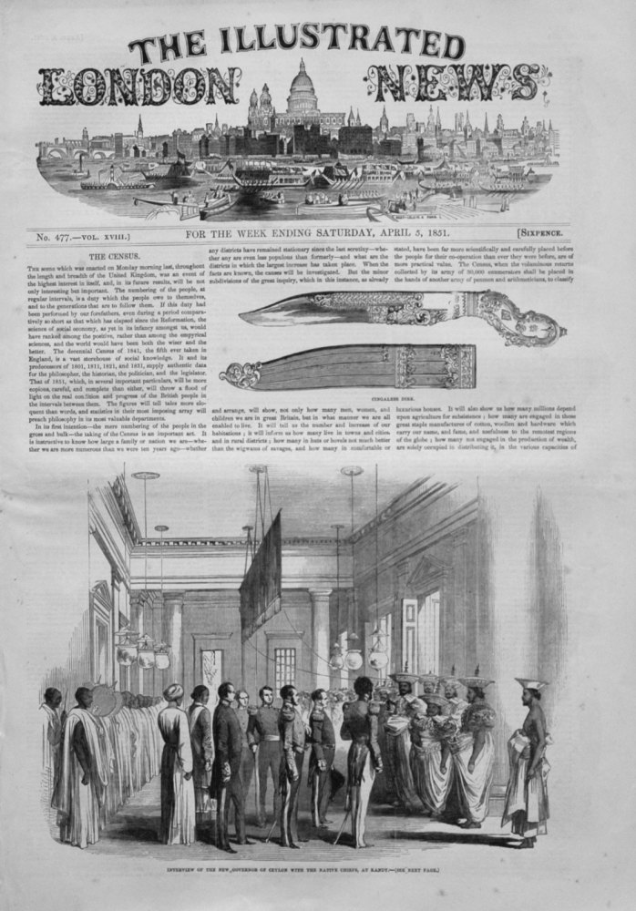 Illustrated London News April 5th 1851.