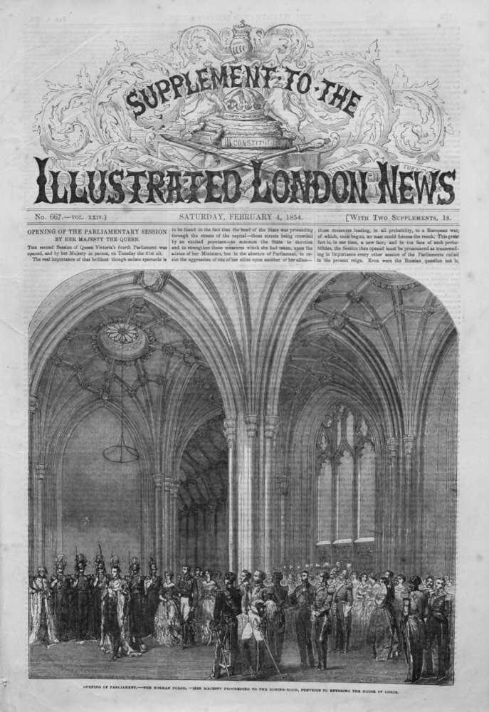Illustrated London News (Supplement) for February 4th 1854.