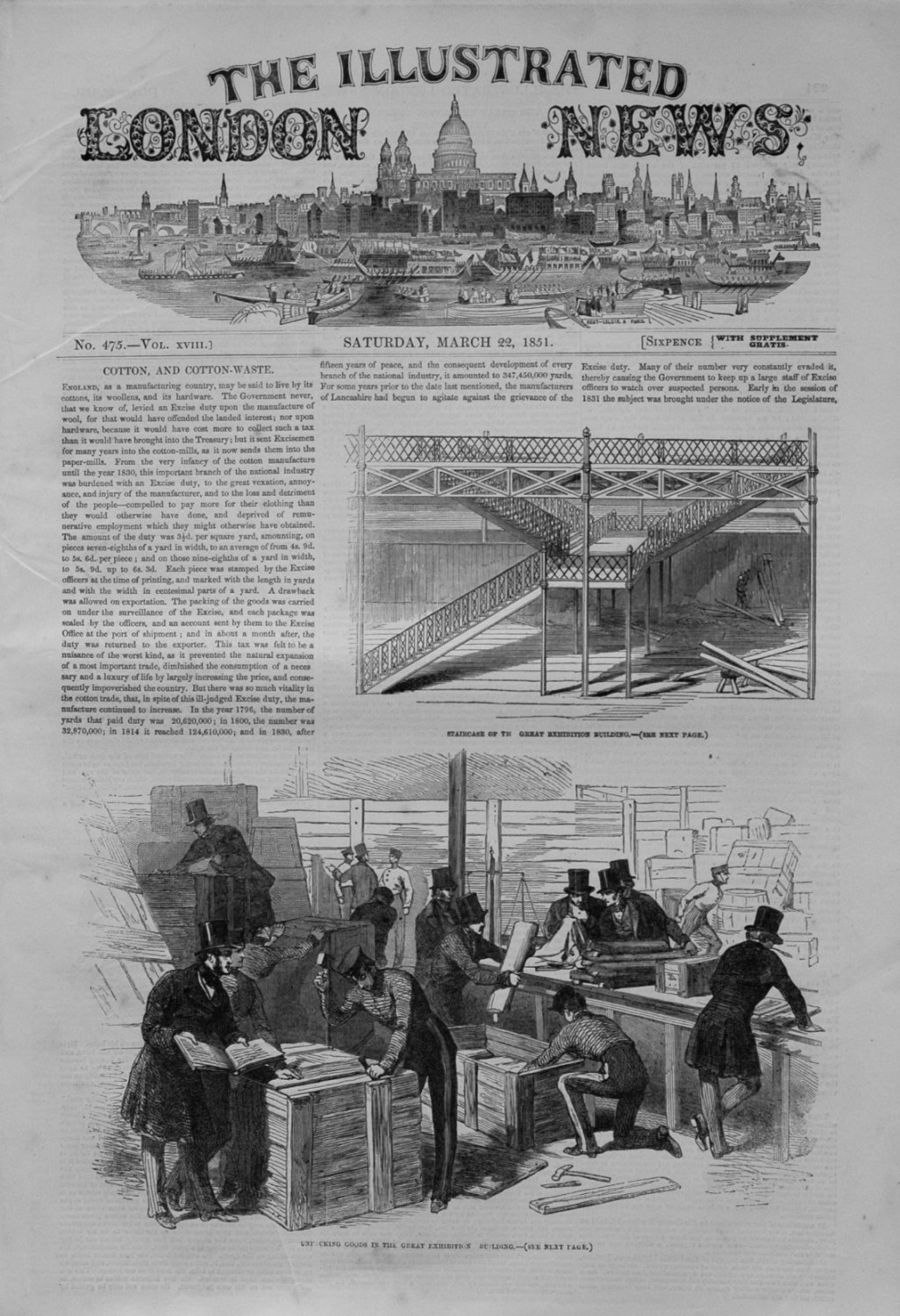Illustrated London News March 22nd 1851.
