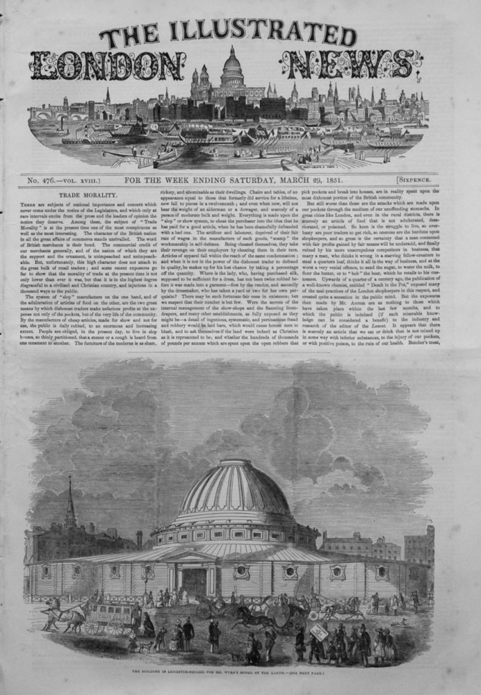 Illustrated London News March 29th 1851.