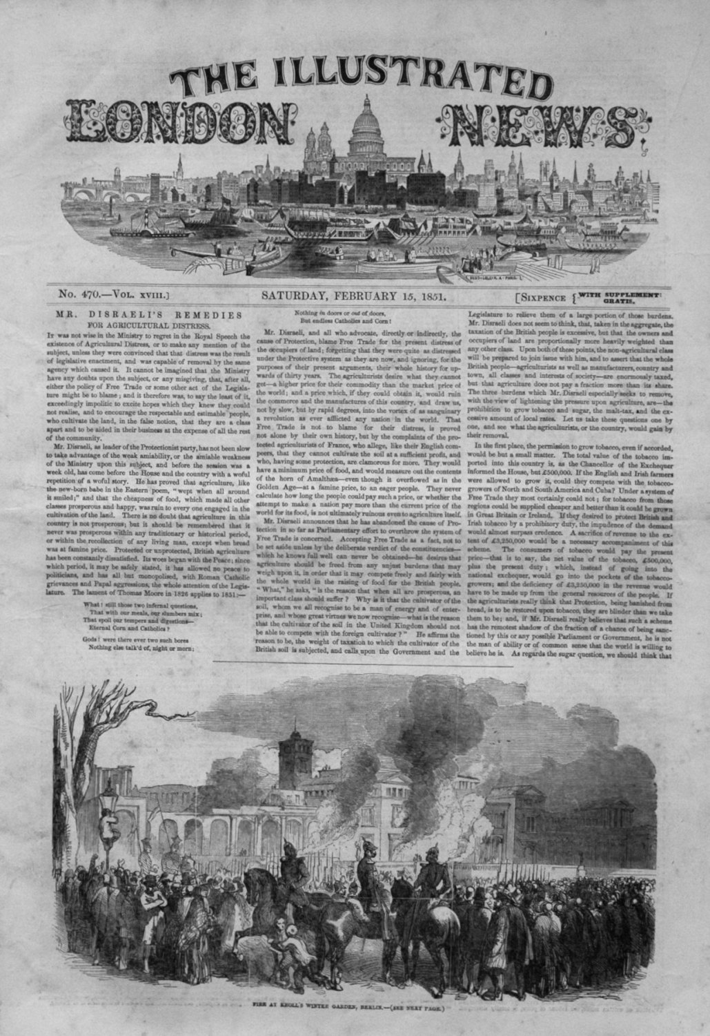 Illustrated London News February 15th 1851.