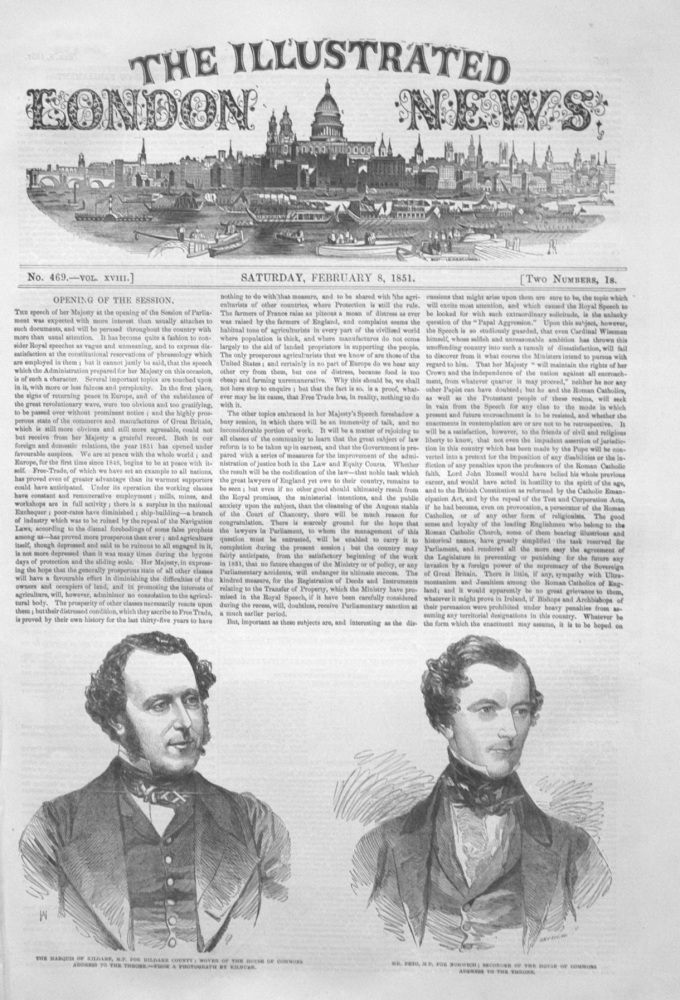 Illustrated London News February 8th 1851.