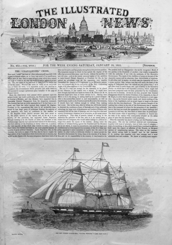 Illustrated London News January 18th 1851.