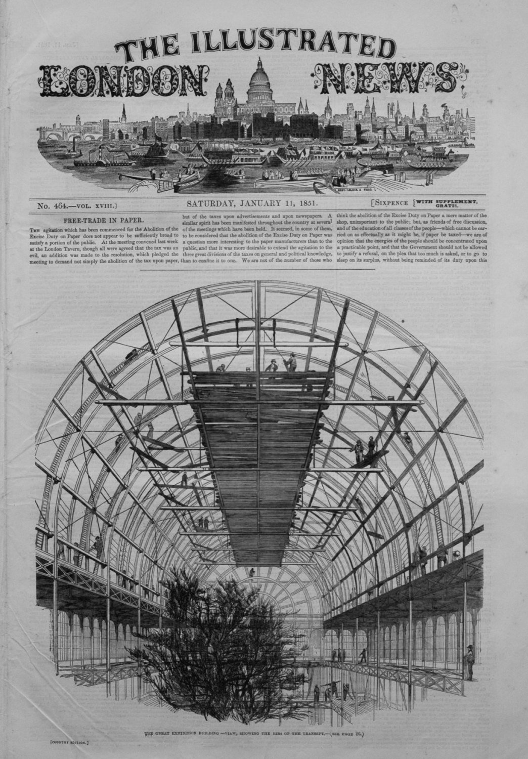 Illustrated London News January 11th 1851.