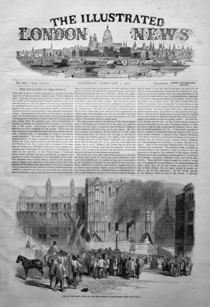 Illustrated London News February 1st 1851.