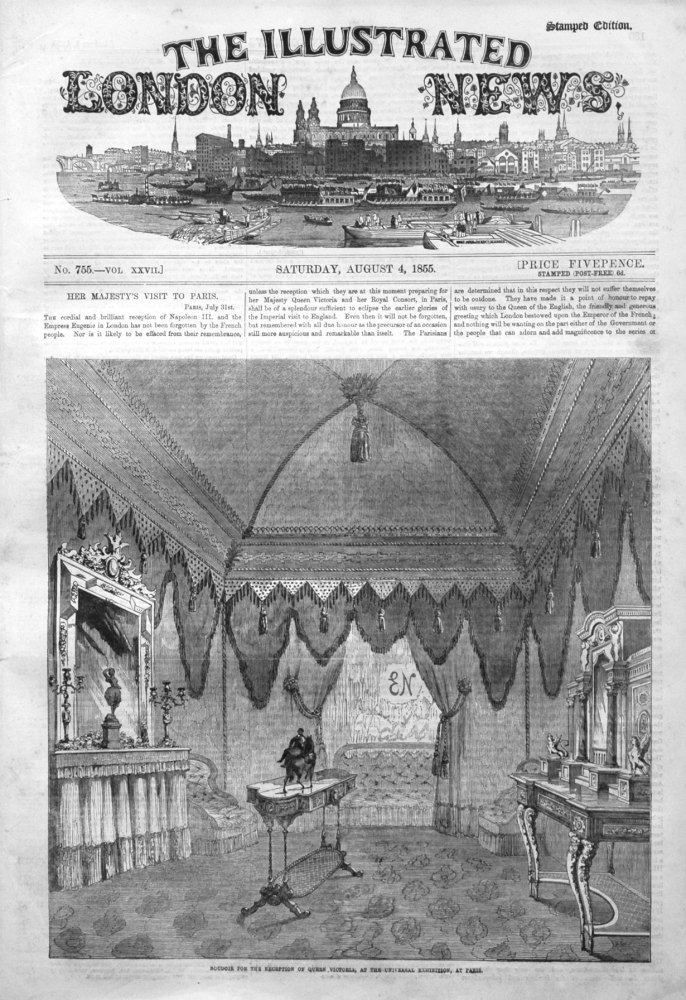 Illustrated London News with Supplement for August 4th 1855.