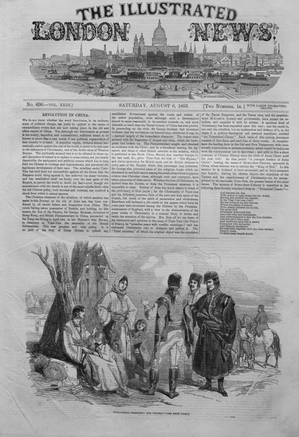 Illustrated London News August 6th 1853.