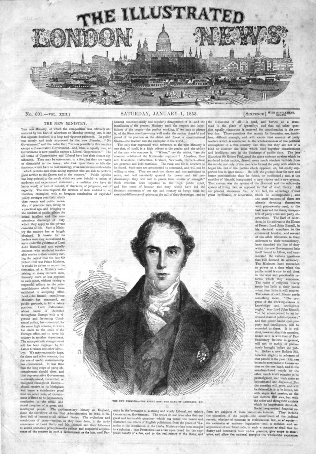 Illustrated London News for January 1st 1853.