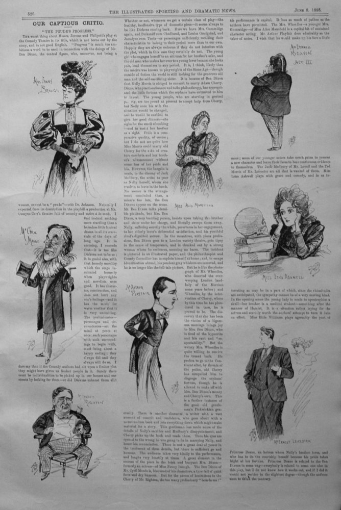 Our Captious Critic, June 8th 1895.