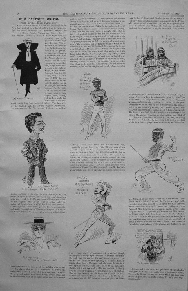 Our Captious Critic, September 14th 1895.