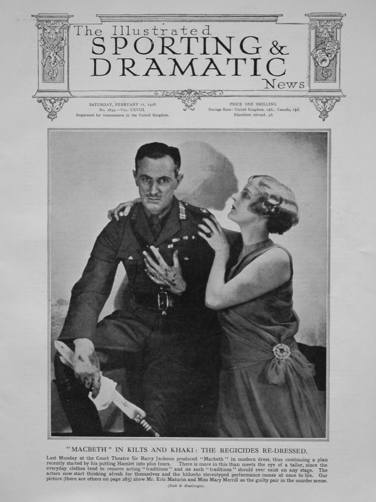 Illustrated Sporting and Dramatic News February 11th 1928.