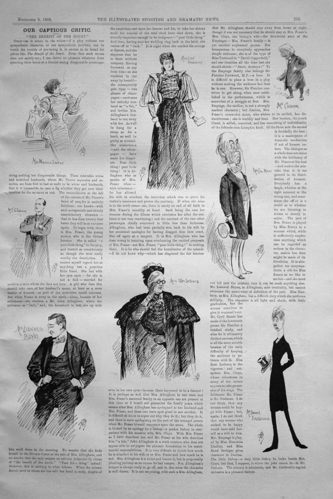 Our Captious Critic, November 9th 1895.