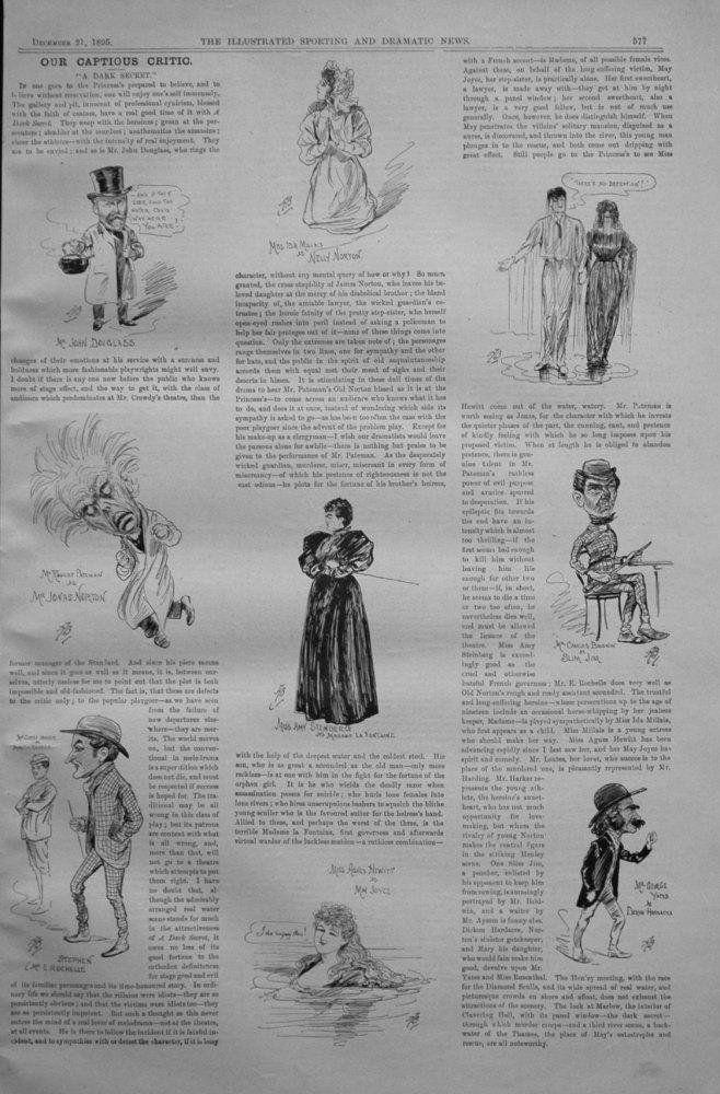 Our Captious Critic, December 21st 1895.