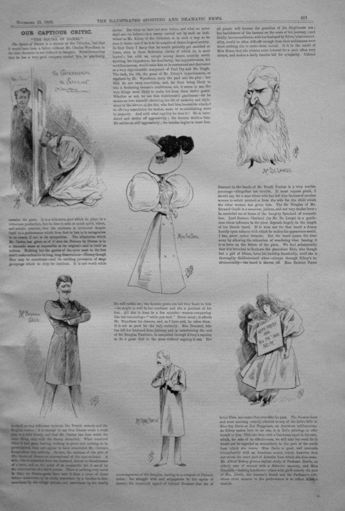Our Captious Critic, November 23rd 1895.