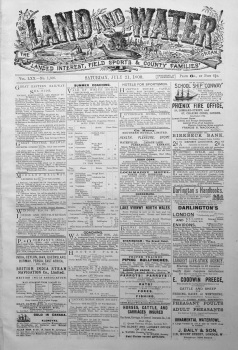 Land and Water. July 21st 1900.