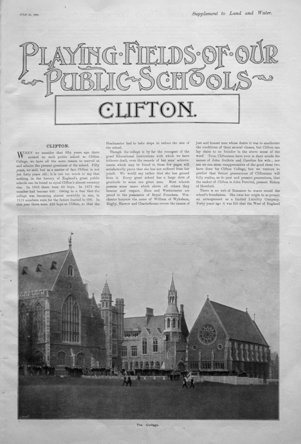Playing Fields of our Public Schools. July 21st 1900.