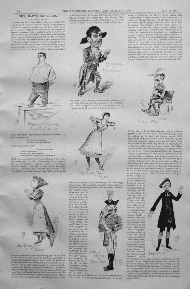 Our Captious Critic, April 11th 1896.