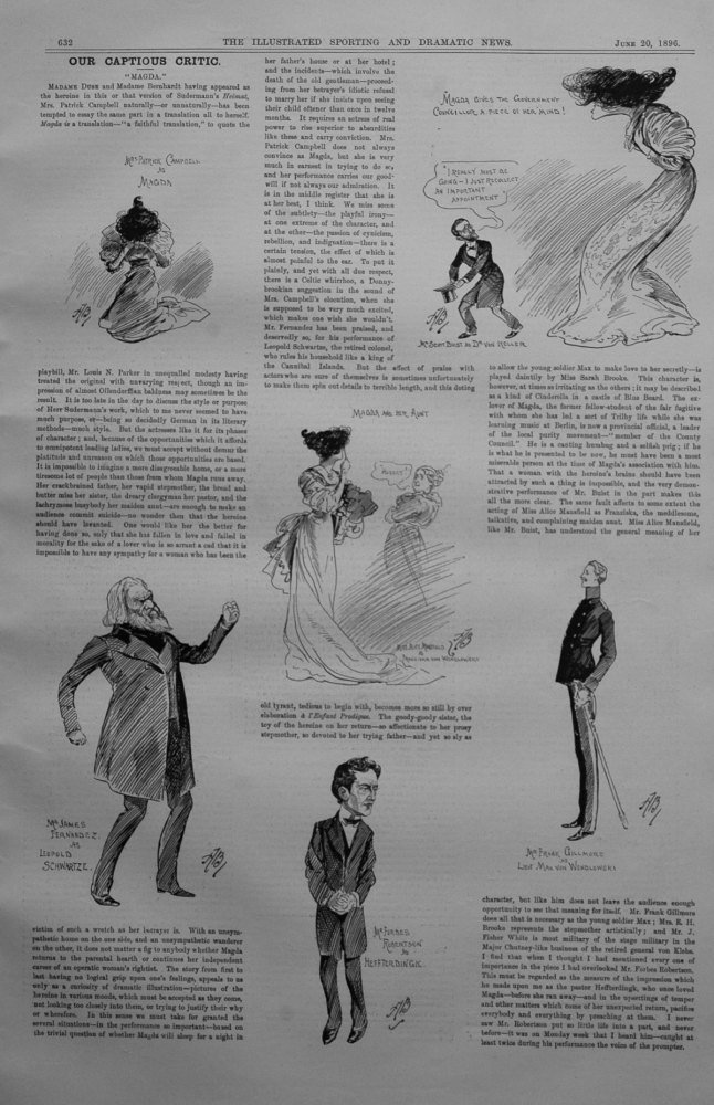 Our Captious Critic, June 20th 1896.