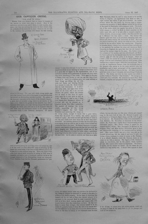 Our Captious Critic, April 25th 1896.