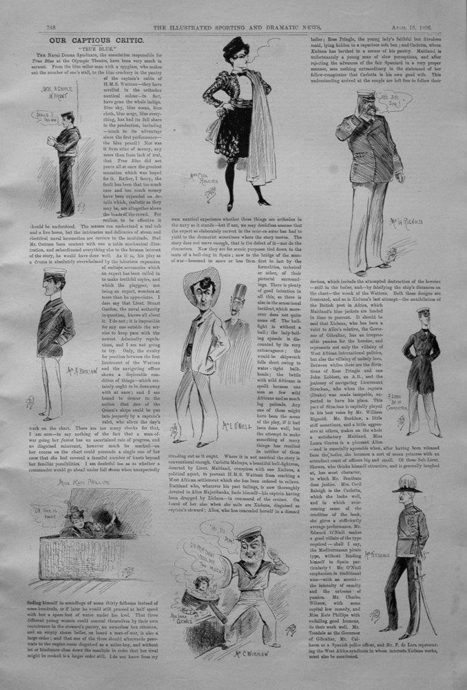 Our Captious Critic, April 18th 1896.