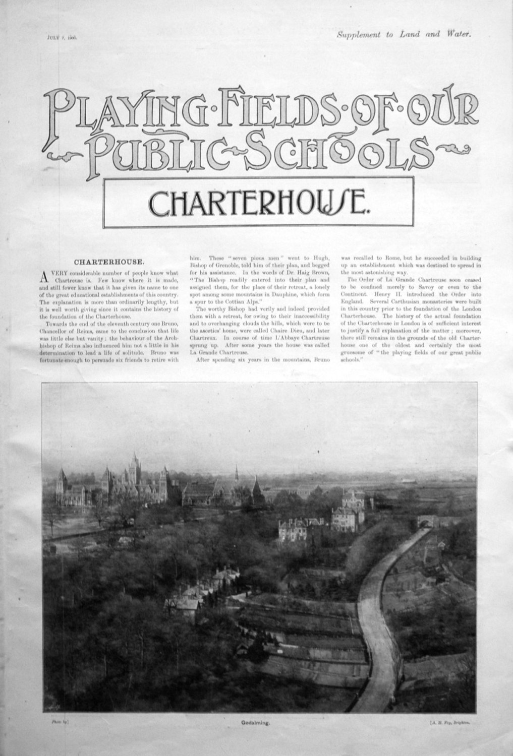 Playing Fields of our Public Schools. July 7th 1900.