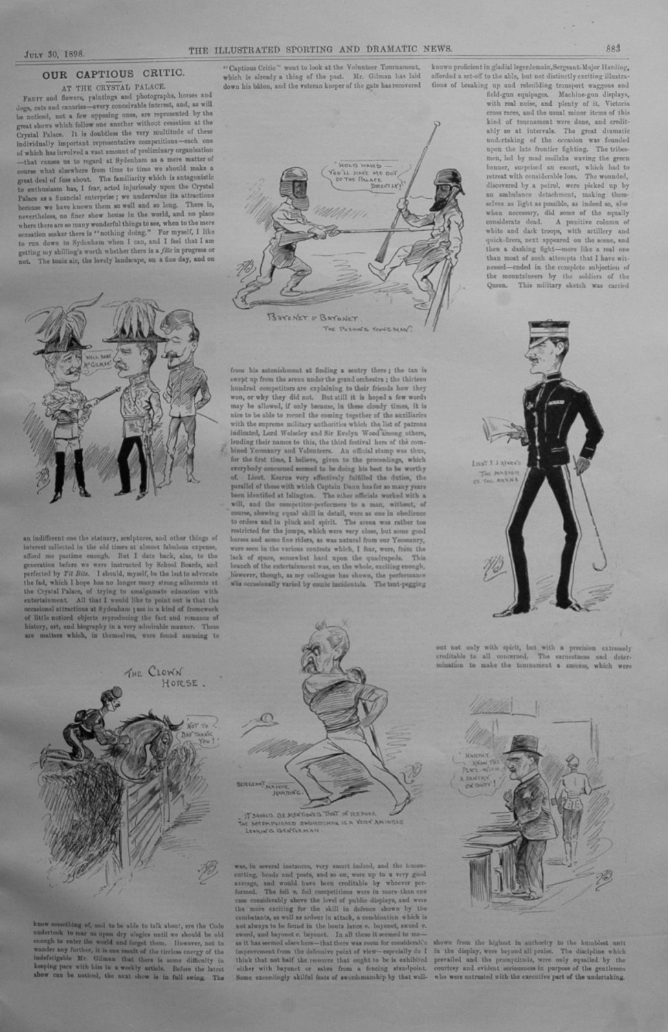 Our Captious Critic, July 30th 1898.