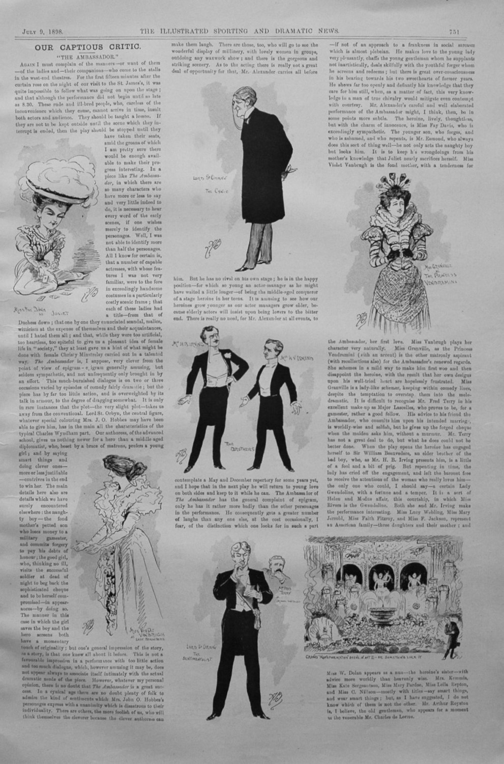 Our Captious Critic, July 9th 1898.