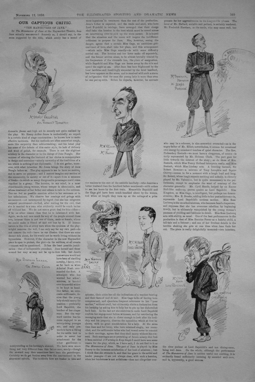 Our Captious Critic, November 12th 1898.