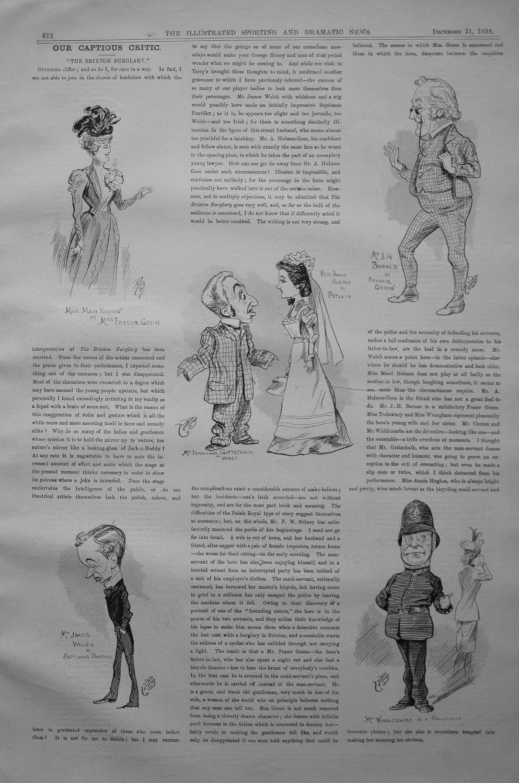 Our Captious Critic, December 31st 1898.