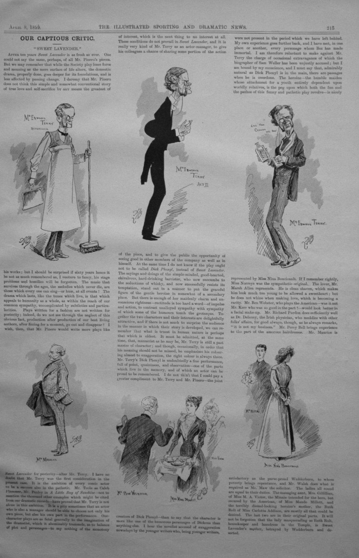 Our Captious Critic, April 8th 1899.