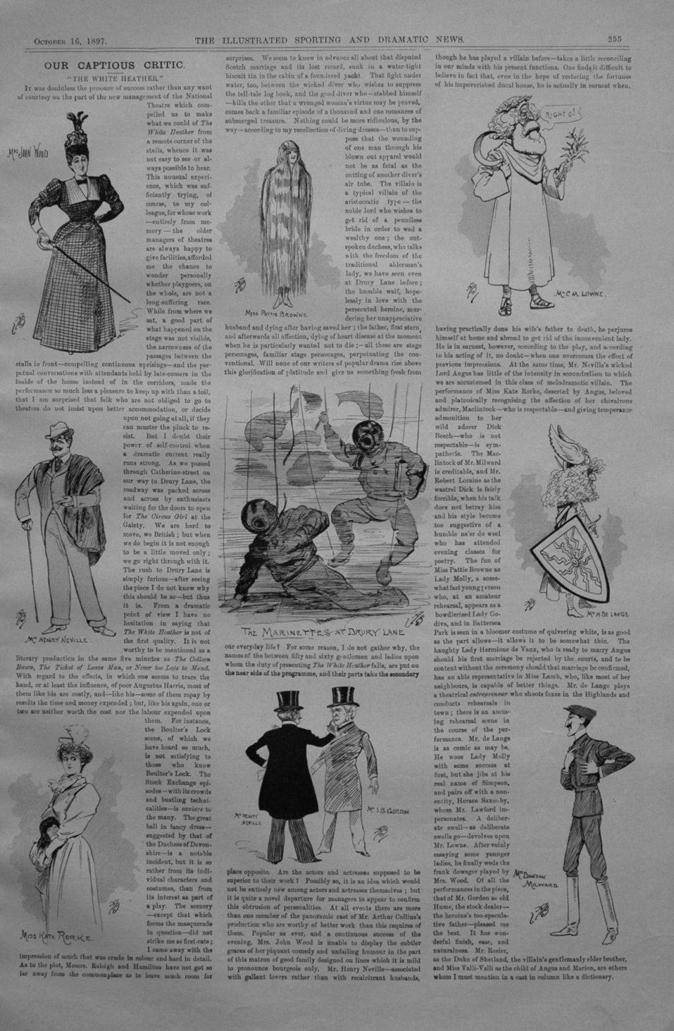 Our Captious Critic, October 16th 1897.