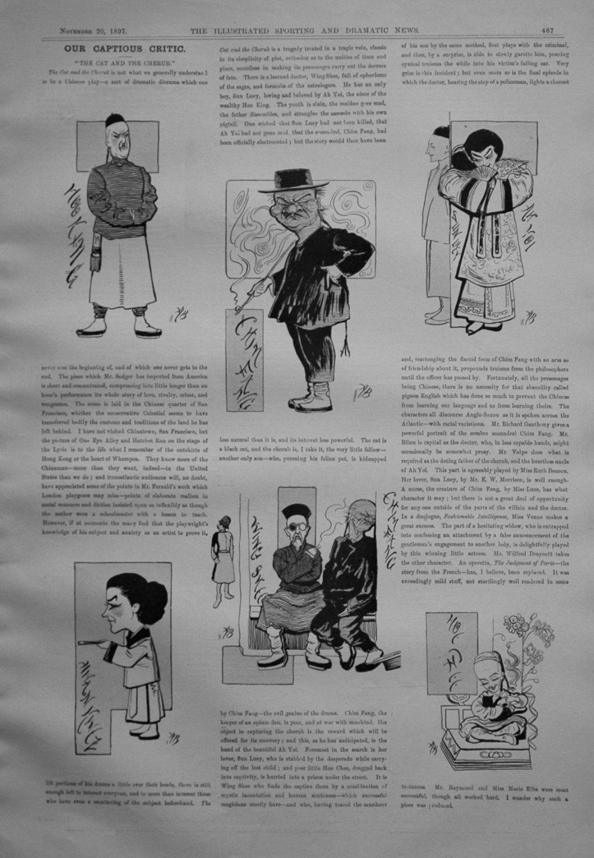 Our Captious Critic, November 20th 1897.