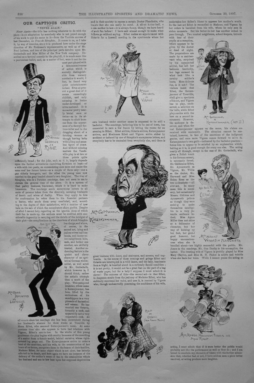 Our Captious Critic, October 30th 1897.