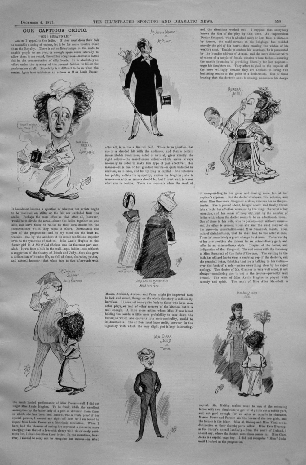 Our Captious Critic, December 4th 1897.