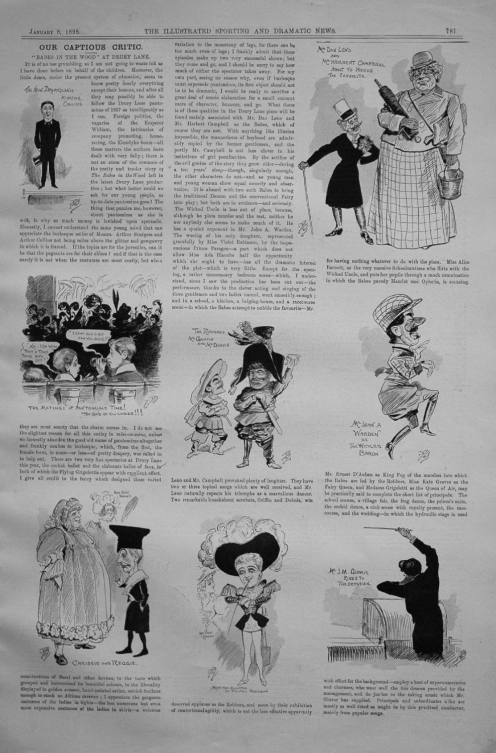 Our Captious Critic, January 8th 1898.