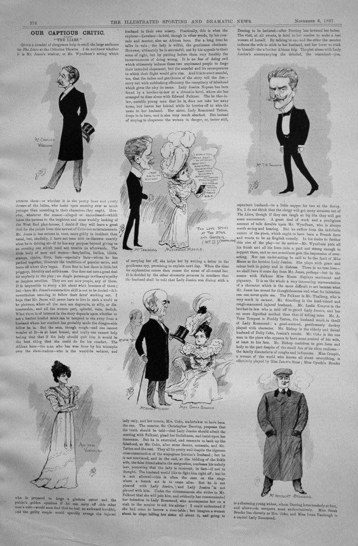 Our Captious Critic, November 6th 1897.