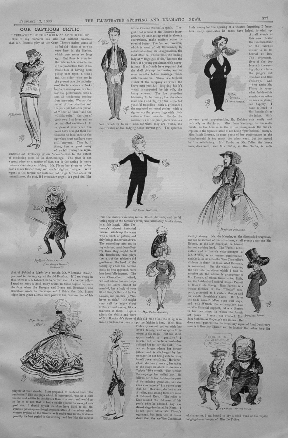 Our Captious Critic, February 12th 1898.