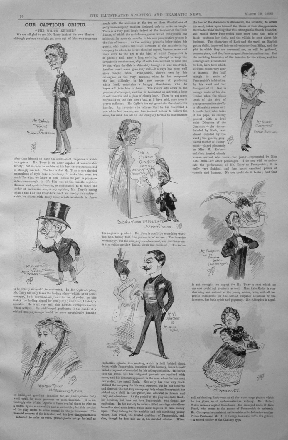 Our Captious Critic, March 19th 1898.