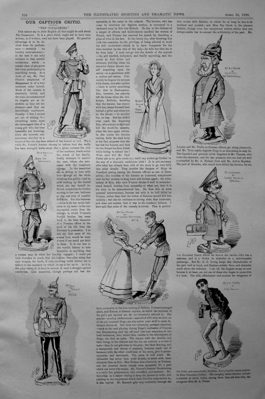 Our Captious Critic, April 30th 1898.